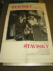 STAVISKY ORIG US ONE SHEET MOVIE POSTER JEAN PAUL BELMONDO ALAIN RESNAIS