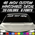 48 Custom Vinyl Windshield Banner Lettering Decal Name Sticker Window Tattoo