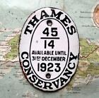 1923 Vintage Car Boat Mascot Badge Oval : Thames Conservancy Pleasure Vessel
