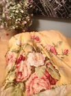 Ralph Lauren Queen Kathleen Yellow Floral Cottage Shabby Bedskirt Dust Ruffle