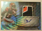 Giovani Bernard 2013 Bowman Sterling Blue Refractor 3 color Patch RC Auto #d 125