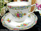 OLDER FOLEY TEA CUP AND SAUCER HAND PAINTED FLOWERS TEACUP & SAUCER