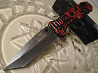 Master Collection Ballistic Assisted Stone Wash Tanto Skull Pocket Knife A007BR