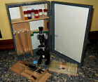 Vintage Eikow MICROSCOPE 100W 200W 300W with case and Accessories