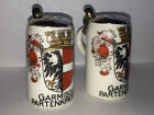 Vintage German Miniature Lidded Beer Stein Salt And Pepper Shakers