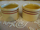 RRP Co Roseville Pottery USA  Small Crock Jar Bowl Tan and Brown Striped
