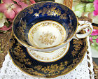HAMMERSLEY TEA CUP AND SAUCER PASTEL PAINTED FLOWERS SIGNED HOWARD CUP