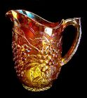 LOVELY VINTAGE IMPERIAL GRAPE MARIGOLD CARNIVAL GLASS 8 1/4