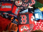 Lot of Fleece Fabric Scraps Sports primary Colors
