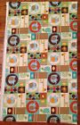 A JUNGLE PATCH ELEPHANT GIRAFFE TURTLES ANIMALS NURSERY FABRIC BY THE YARD