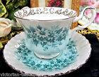 ROYAL ALBERT TEA CUP AND SAUCER MELODY SERIES NOCTURNE PATTERN TEACUP