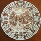 Alfred Meakin Brown White Plate God Bless Our House 1974 Zodiac Staffordshire