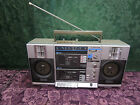 Emerson CTR949 Boombox AM/FM Stereo,Dual Cassette, Radio Works-Selling As Is