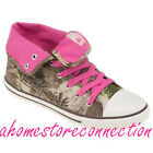 NEW!~WOMENS REALTREE MAX-1 PINK CAMO LINDSEY HI HIGH-TOP CASUAL SHOES~SIZE 6.5