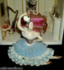 German Dresden Porcelain Lace Seated Lady Spanish Dancer Ballerina Figurine Doll