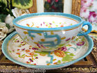 ANTIQUE 18th C. early victorian TEA CUP AND SAUCER PAINTED ORIENTAL DESIGN