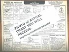 1933 (early) DeSoto SIX Series Model SD Silver Dome Head Tune Up Chart