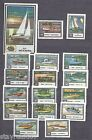 Set of 17 Authentic Soviet USSR Matchbox labels - Private Boats Sailing Yachts