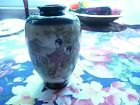 Satsuma Vase Cobalt Blue with Geishas by the Lake & Mountains, 4 7/8
