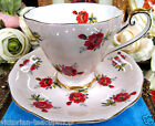 ROYAL STANDARD TEA CUP AND SAUCER PINK TEACUP WITH RED ROSES FLORAL PATTERN