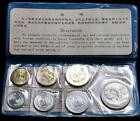 1980 People's Bank of China PRC Mint Set of 7 Coins - Black/Blue Folder BU