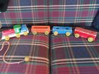 Lot of Vintage Wooden Toys ~ SIFO ~ Fisher Price ~ Train