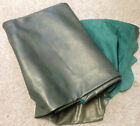 P2 Leather Cow Hide Cowhide Upholstery Craft Fabric Gold Dust on Green 39 sq ft