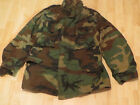 ARMY AIRBORNE RANGER ISSUE COMBAT COLD WEATHER FIELD JACKET WOODLAND Sz S/REG