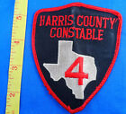 OLD CONSTABLE HARRIS COUNTY 4 TEXAS EMBROIDERED CLOTH PATCH- FREE US SHIPPI
