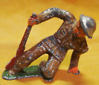 ANTIQUE LEAD WWII TOY SOLDIER INJURED SOLDIER - MANOIL BARCLAY? #50?