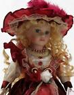 COLL PORCELAIN LIMITED ADDITION VICTORIAN DOLL ISABELLE IN BURGUNDY 16