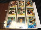1985 Topps Traded Set With 9-Pocket Pages 132 Cards