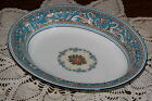 Wedgwood England - Florentine W2714 (Turquoise) - 9 7/8-inch Oval Serving Bowl