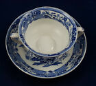 Ashworth Bros. Flowers & Birds Flow Blue Cream Soup with Saucer ASB20