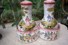 SOUTH OF FRANCE SIGNED VP MARSEILLE  ANTIQUE FRENCH FAIENCE CONDIMENTS SET