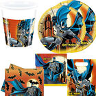BOYS KIDS BATMAN SUPER HERO BIRTHDAY PARTY PACK FOR 8 & 16 PLATES CUPS NAPKINS