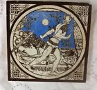 Mintons Moyr Smith Tile PELLEAS - Idylls of the King 1875