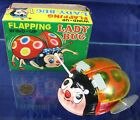Vintage 1950's-60's Wind-up Flapping Lady Bug Made in Japan in Box