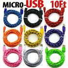 10 Foot Micro USB 20 Cable For Android Phones Charging Sync Charger Cord lot