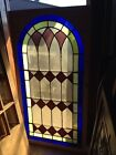 Sg 131 Antique Arch Stained Glass Window 335 X 635