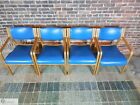 Vintage Mid Century Design Thonet Set of 4 Bent Wood Chairs