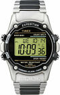 Timex Digital Watch T77517 Atlantis 100 Men's Silver-Tone Case Bracelet Indiglo