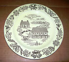 1950's? Bucks County Plates! Royal China,Ohio! (3) Lt.Yellow Plates! Gd/VG Cond!