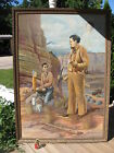 Vintage 1950's Original Oil Painting By  Everette H Sloan Huge 70