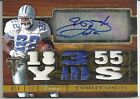 Emmitt Smith auto Triple Threads autograph jersey patch #'d 8 of 9 Cowboys RARE