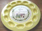 BROCK of California Pottery Deviled Egg Plate Tray Yellow Harvest Farm Cow 13