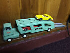 ORIGINAL 1960s TONKA Car Carrier with TWO Split Window CORVETTES and TWO Rails