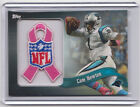 2013 Topps CAM NEWTON Breast Cancer Awareness NFL Ribbon Patch Card SP 99