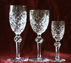 Set WATERFORD CRYSTAL POWERSCOURT SHERRY PORT CORDIAL/LIQUEUR WINE GLASS SIGNED