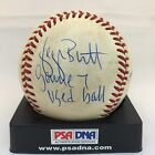 1985 World Series Game 7 Game Used Baseball Signed George Brett Ozzie Smith PSA